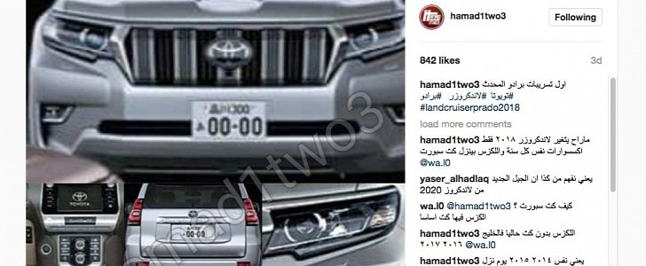 2018 toyota 70 series. modren series 2018 toyota land cruiser prado surfaces early on instagram  autoevolution with toyota 70 series