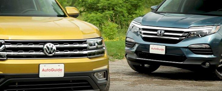 2018 Volkswagen Atlas vs. Honda Pilot Review Doesn't Fit the Screen - autoevolution
