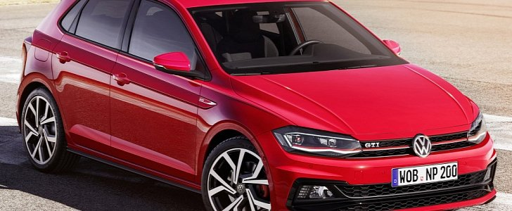 2018 volkswagen polo r line and polo gti leaked look. Black Bedroom Furniture Sets. Home Design Ideas