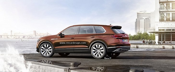 2018 Volkswagen Touareg Rendered Based on T-Prime GTE Concept ...