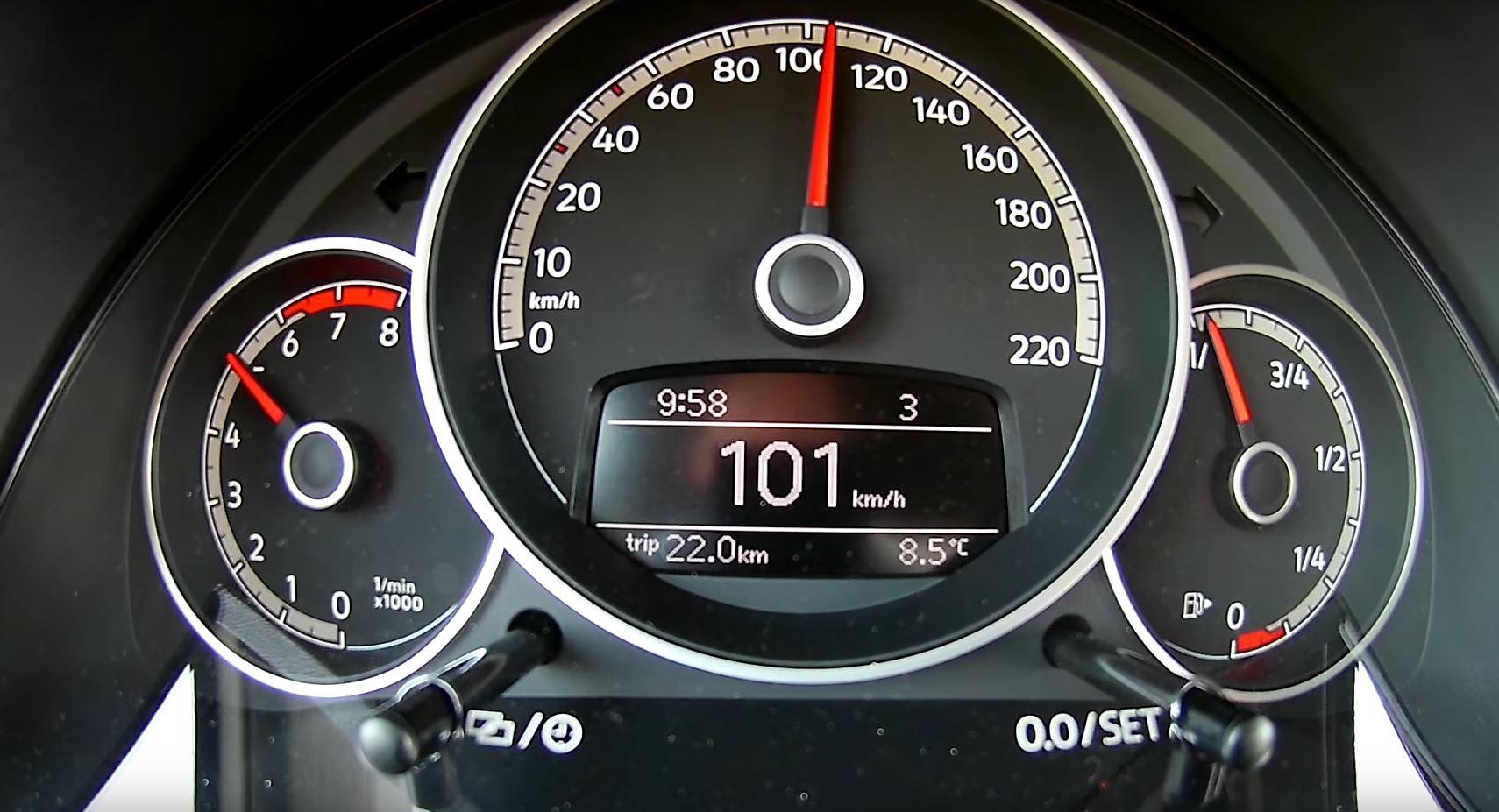 2018 volkswagen up gti 0 100 km h acceleration test. Black Bedroom Furniture Sets. Home Design Ideas