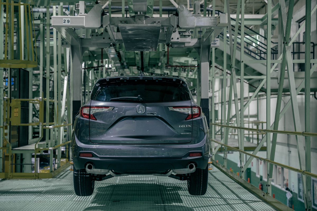 2019 acura rdx starts rolling off the assembly line in for Honda east liberty ohio