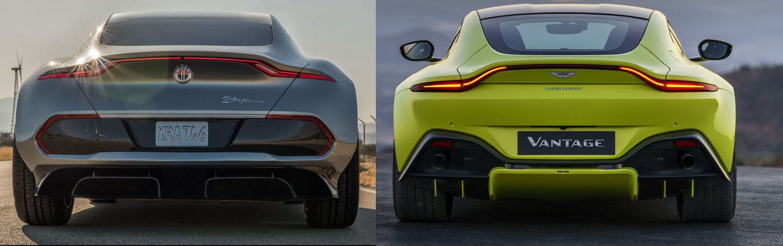 2019 Aston Martin Vantage And Fisker Emotion Rear Ends Who Copied