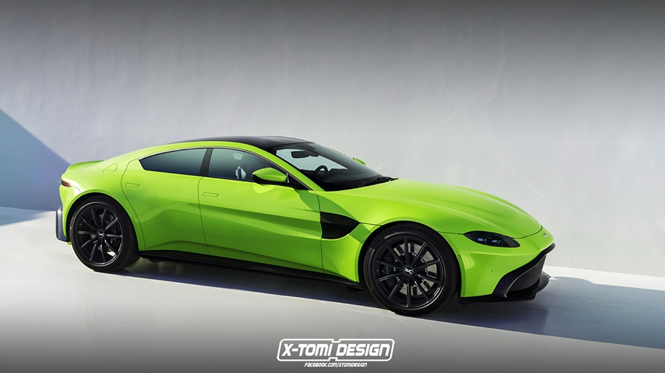 2019 Aston Martin Vantage Four Door Rendered As Baby