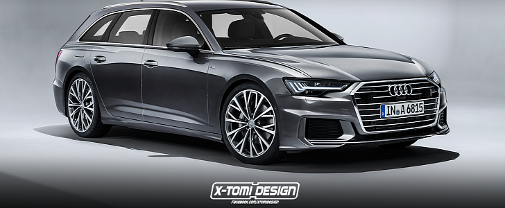 2019 audi a6 avant rendering looks ready for s6 treatment. Black Bedroom Furniture Sets. Home Design Ideas