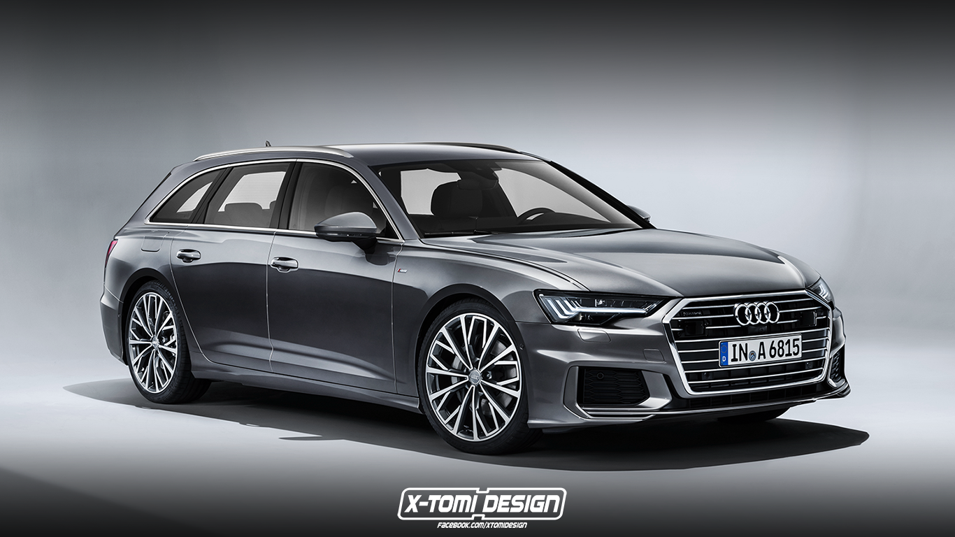 2019 audi a6 avant rendering looks ready for s6 treatment autoevolution. Black Bedroom Furniture Sets. Home Design Ideas