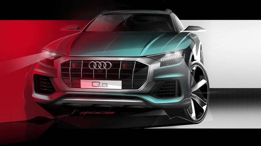 2019 Audi Q8 Teased Again Grille Looks Like It Eats Small Cars For