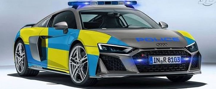 2019 Audi R8 Police Car Rendering Looks Legit Autoevolution