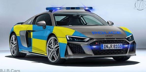 2019 Audi R8 Police Car Rendering Looks Legit Autoevolution
