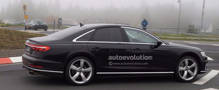 2019 Audi S8 Spied Showing Quad Exhaust System Autoevolution