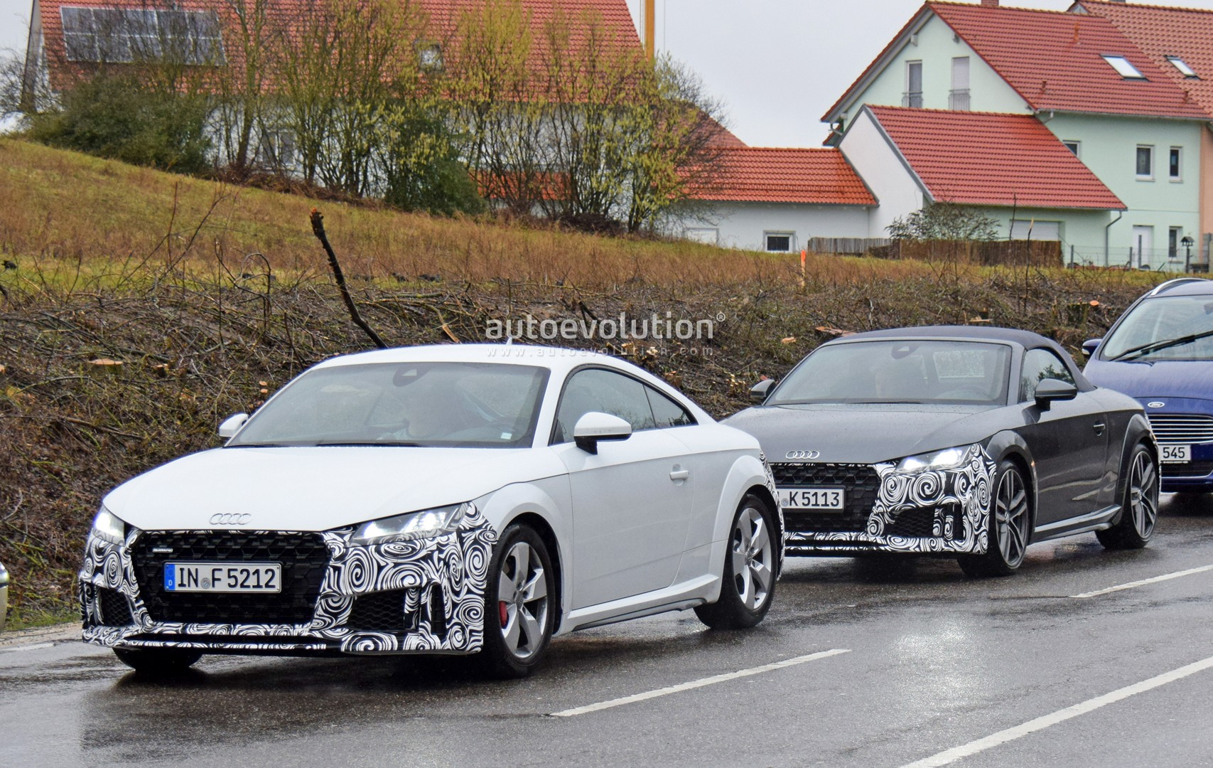 2019 audi tt and tts facelift spied possibly testing new engines autoevolution. Black Bedroom Furniture Sets. Home Design Ideas