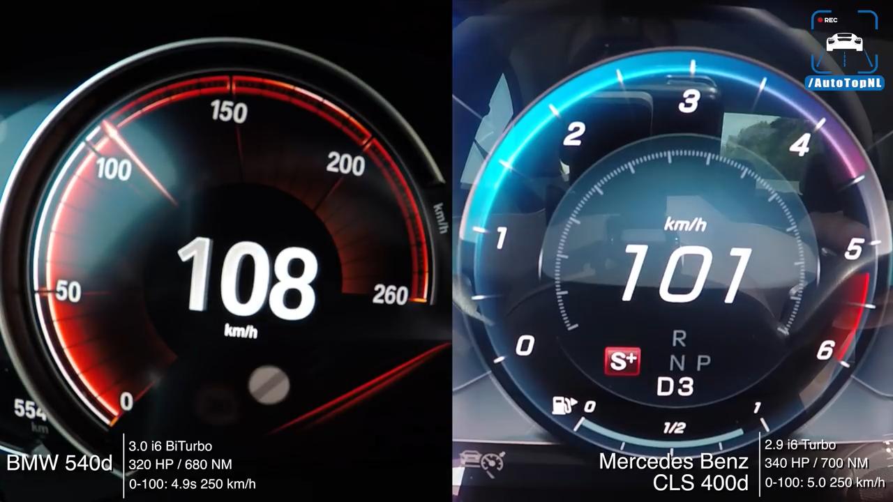 2019 Bmw 540d Vs Mercedes Cls 400 D Inline 6 Acceleration Test