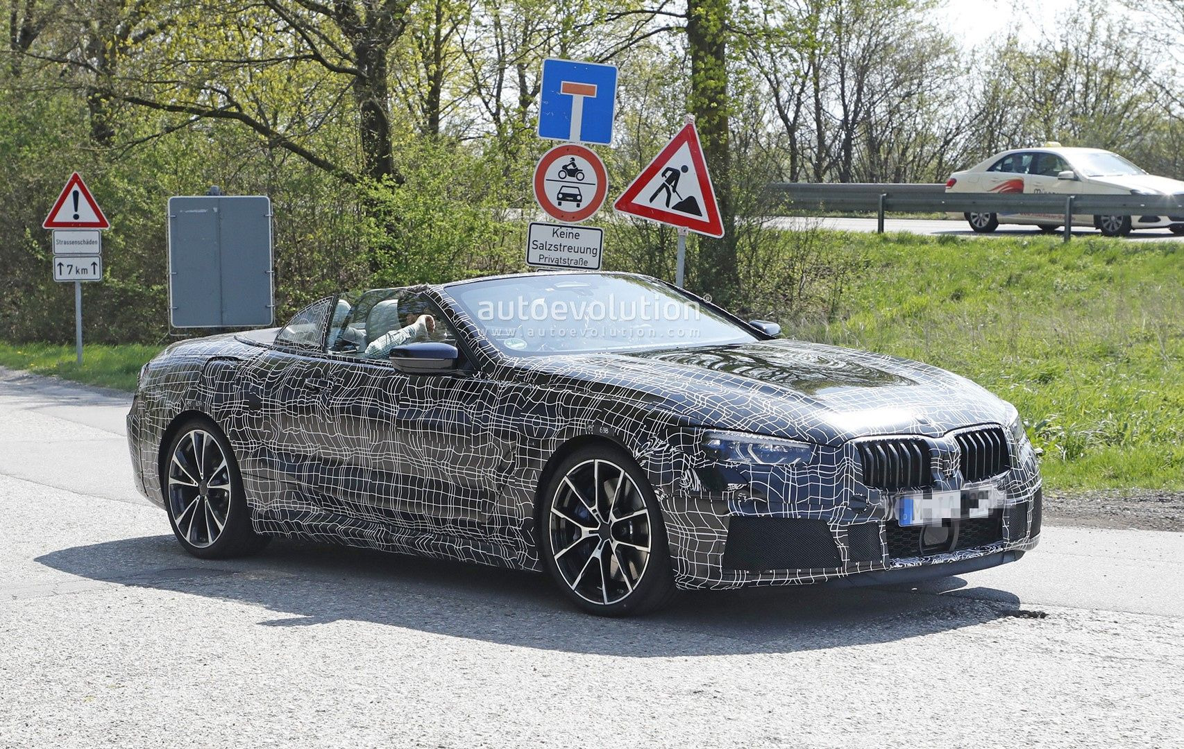 8 Series Convertible While Testing It 18 Photos