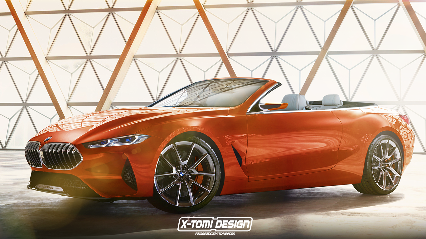 2019 Bmw 8 Series Convertible G14 Rendered Looks Amazing Painted In Orange Autoevolution