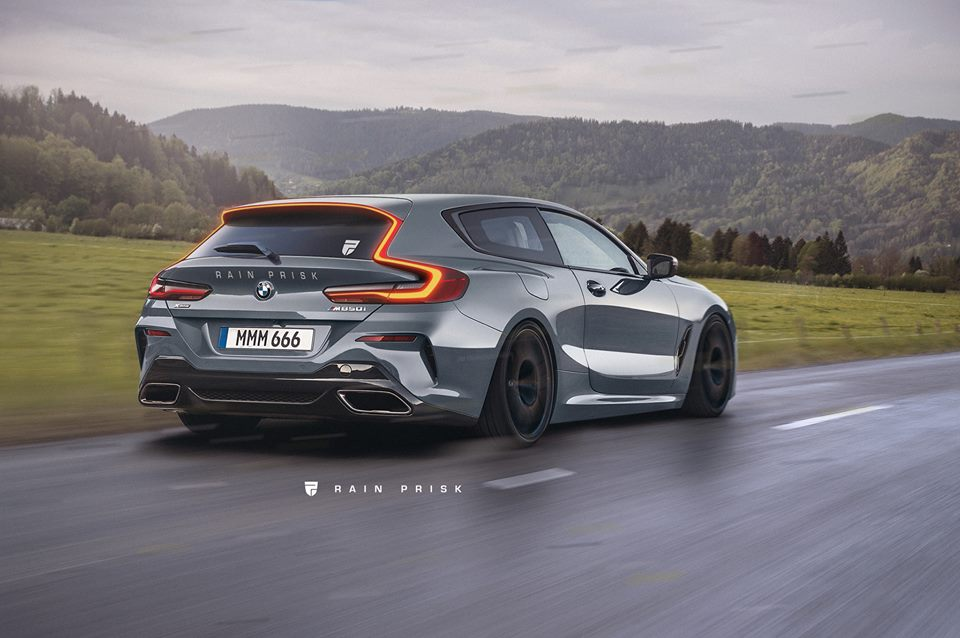 2019 bmw 8 series shooting brake rendered looks a bit like a volvo autoevolution. Black Bedroom Furniture Sets. Home Design Ideas