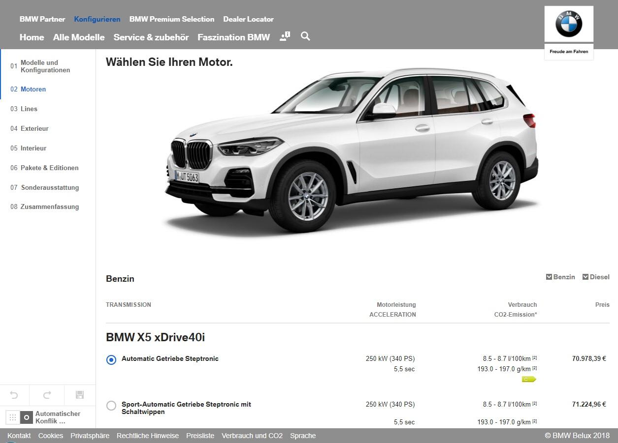 2019 BMW X5 Configurator Goes Live - autoevolution
