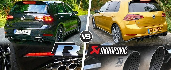 2019 golf r does sound check with and without akrapovic. Black Bedroom Furniture Sets. Home Design Ideas