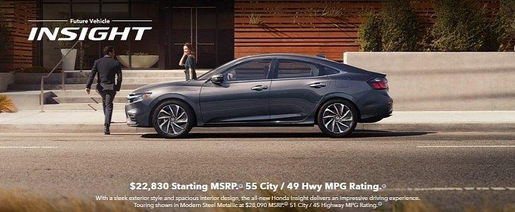 2019 Honda Insight Hybrid Sedan Priced At $22,830 ...