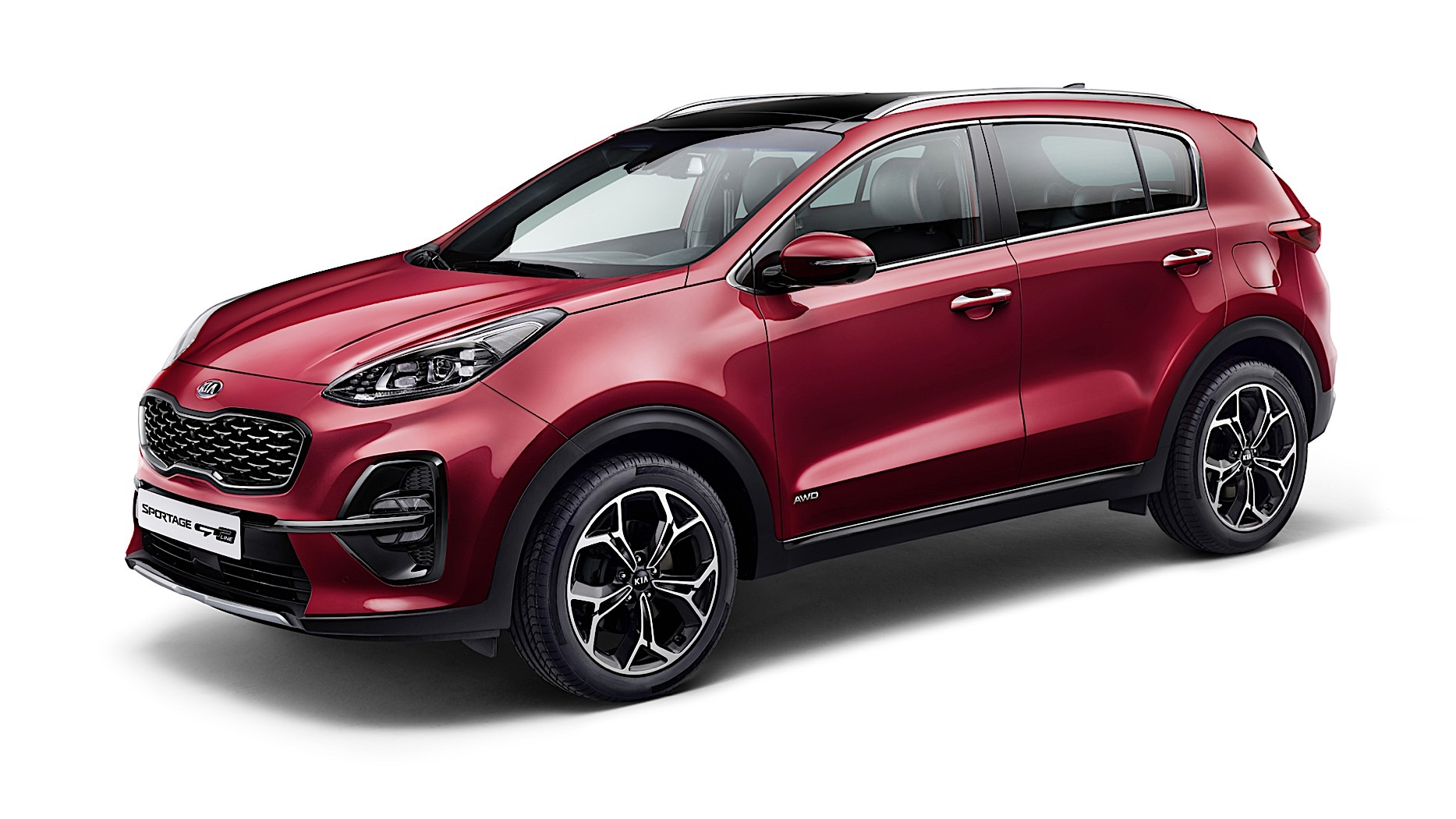 2019 kia sportage facelift revealed with mild hybrid and. Black Bedroom Furniture Sets. Home Design Ideas