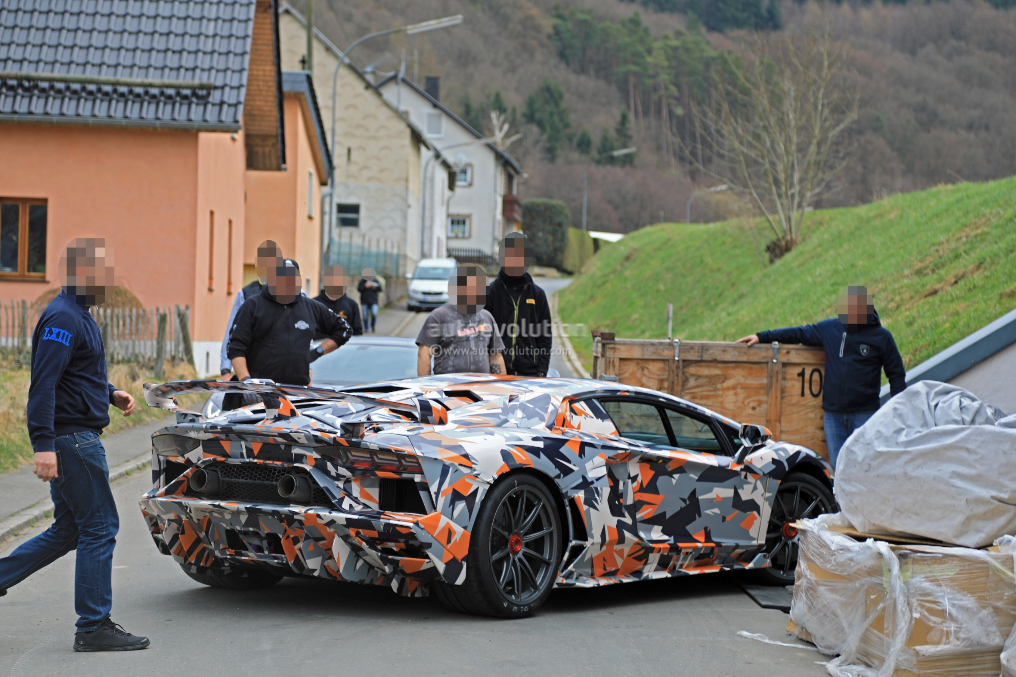 2019 Lamborghini Aventador Svj Looks Serious On Aero In Newest Spy