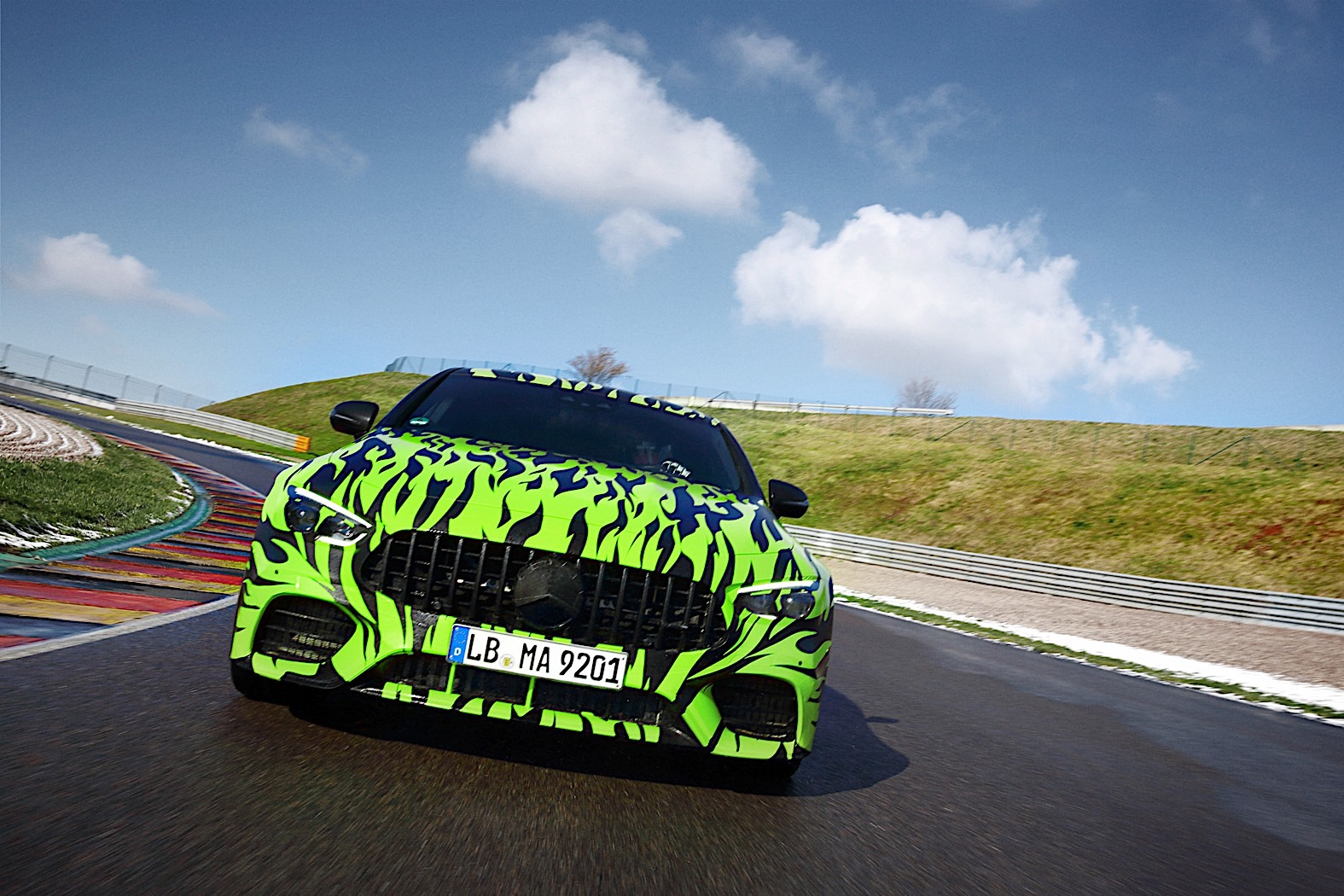 Mercedes-AMG shows four-door GT Coupe in green flame camo