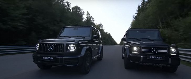 2019 Mercedes Amg G63 Drag Races Old G63 In Russia With