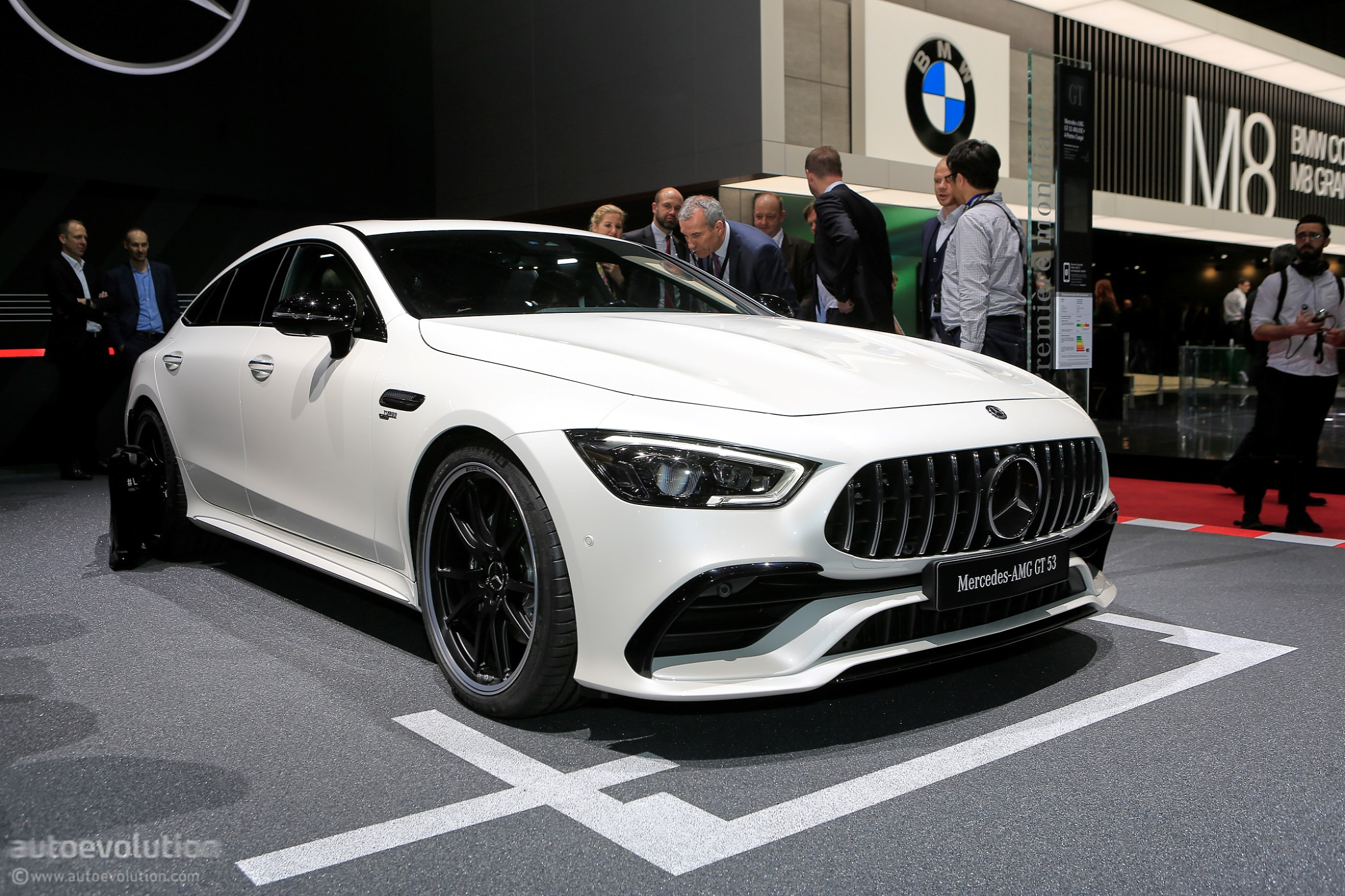 2019 mercedes amg gt 4 door coupe x290 shows liftback silhouette in geneva autoevolution. Black Bedroom Furniture Sets. Home Design Ideas