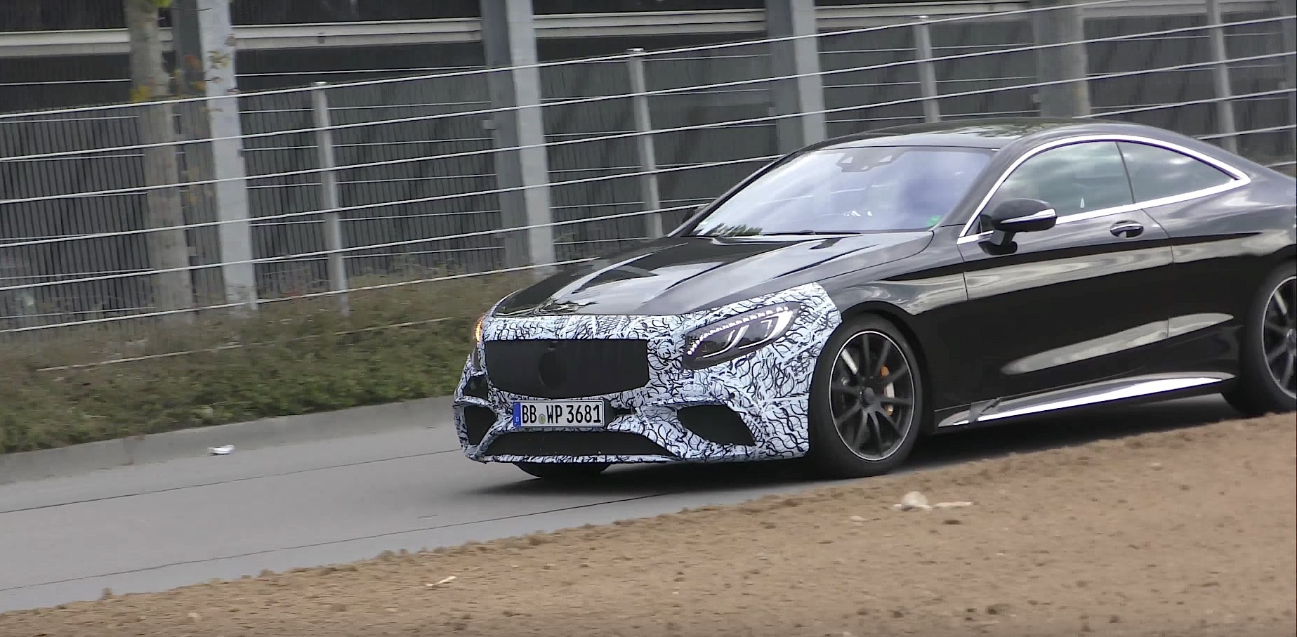 2019 mercedes amg s63 coupe prototype gives a glimpse of. Black Bedroom Furniture Sets. Home Design Ideas