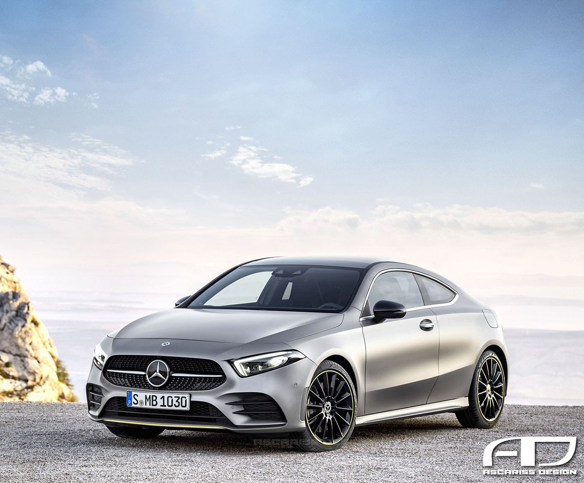 2019 mercedes benz a class coupe and cabrio renderings look pointlessly good autoevolution. Black Bedroom Furniture Sets. Home Design Ideas