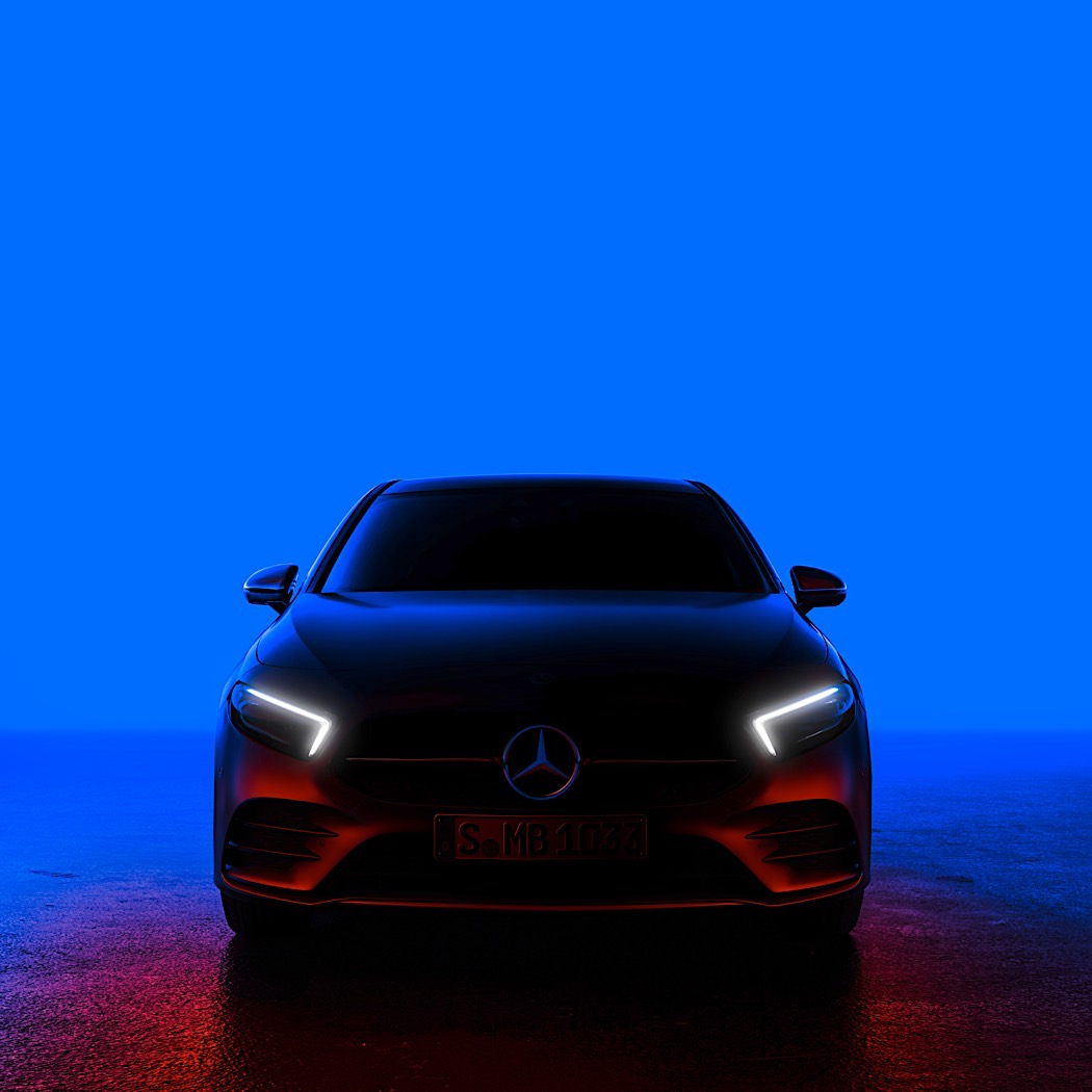 Mercedes Benz A-Class teased, reveal scheduled for next month
