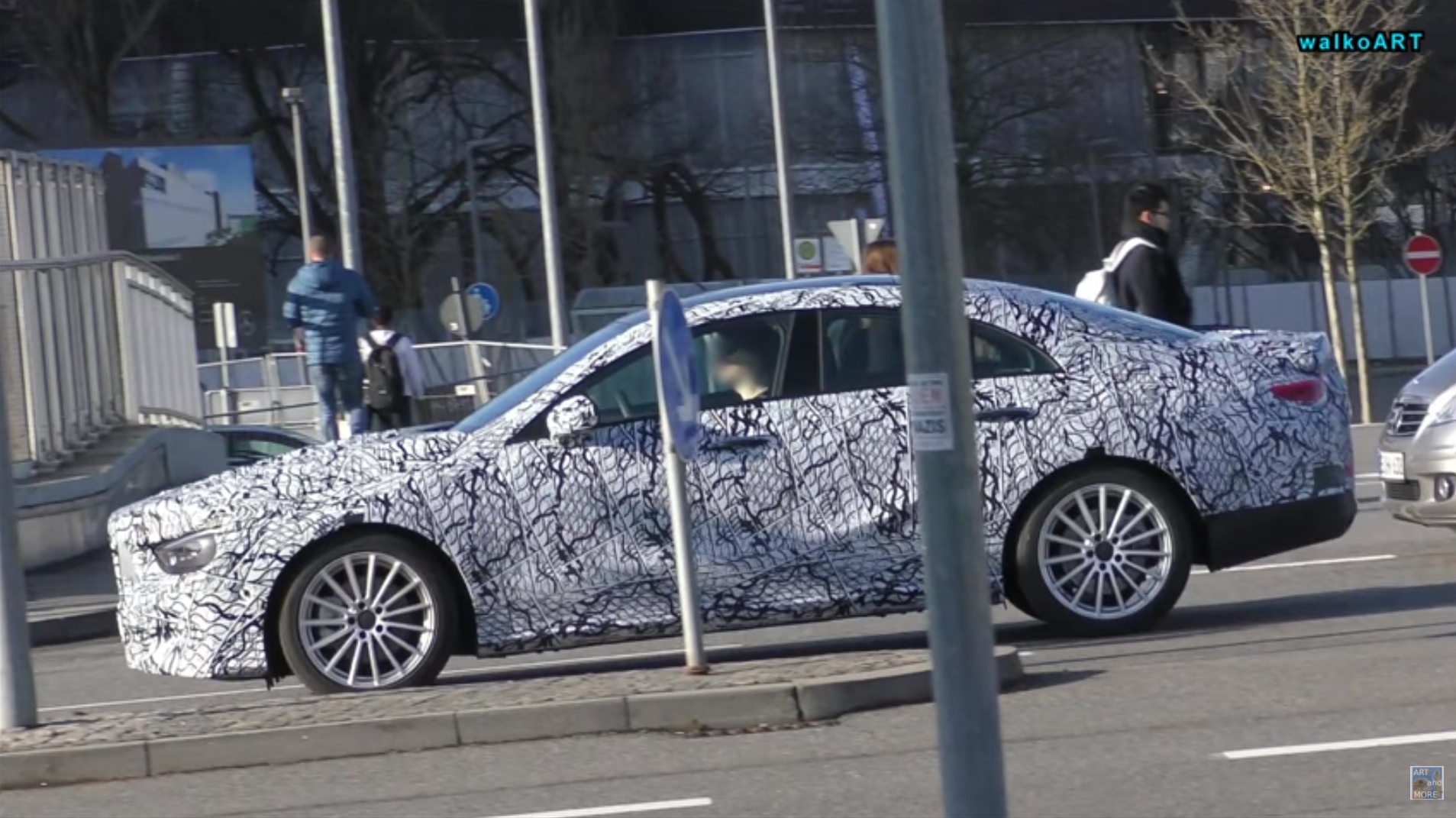 2019 Mercedes Benz Cla Class Makes Quick Appearance Looking All