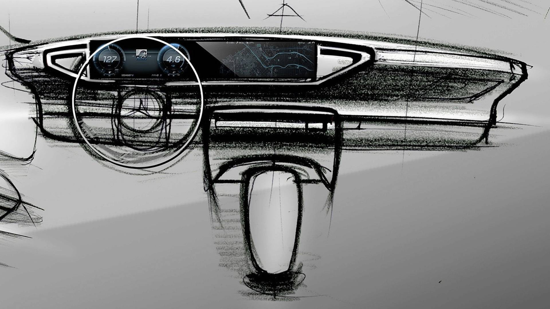 2019 Mercedes Benz Gle Interior Teased Widescreen Cockpit Confirmed