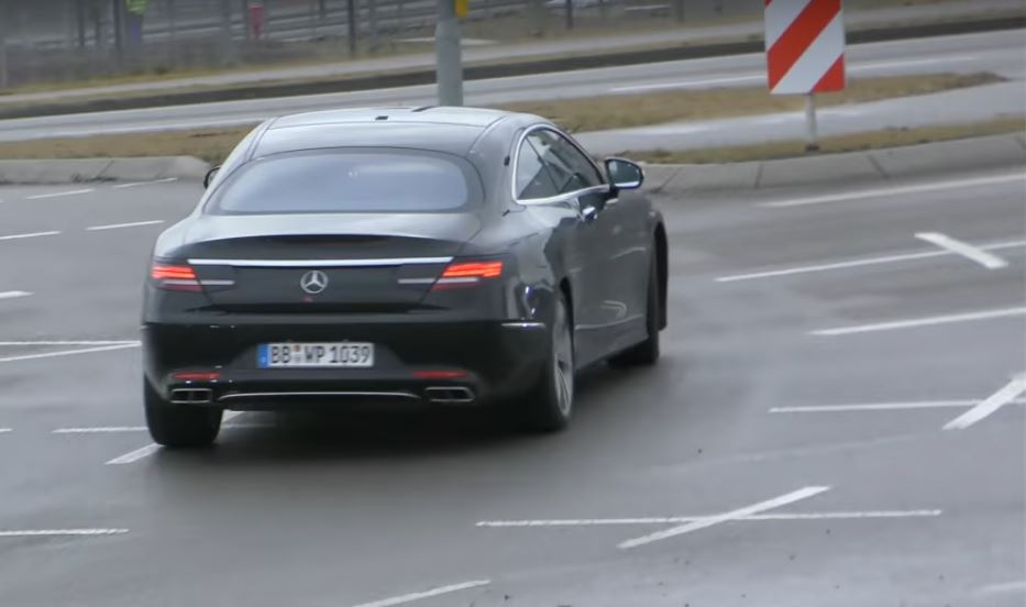 2019 Mercedes Benz S Class Coupe Facelift Shows Up In German Traffic