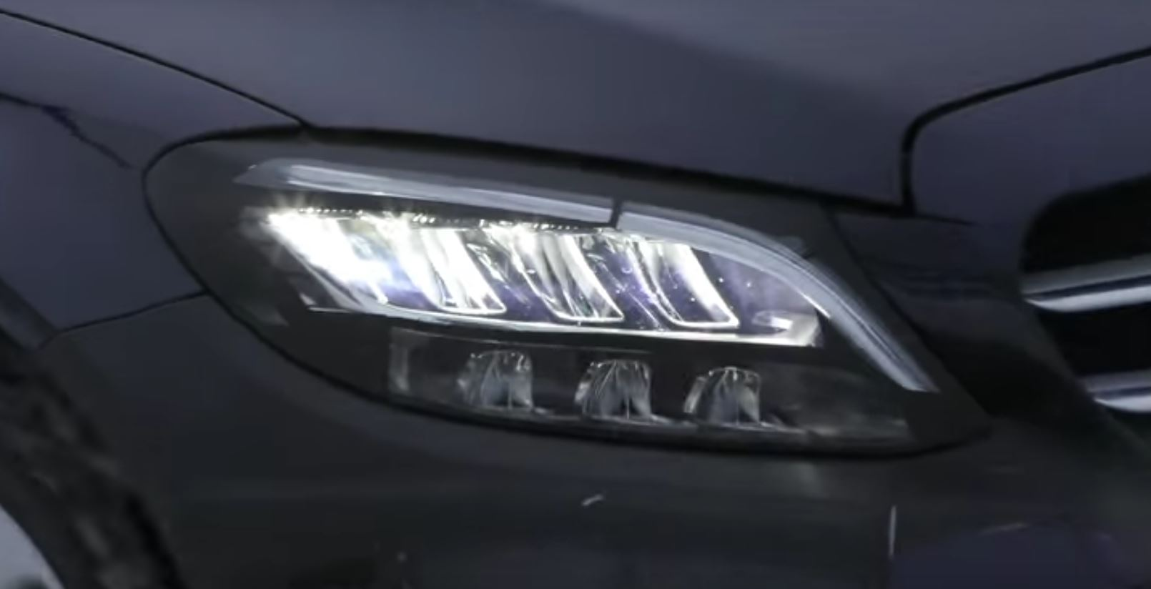 2019 Mercedes C Class Shows Heavily Revised Headlights