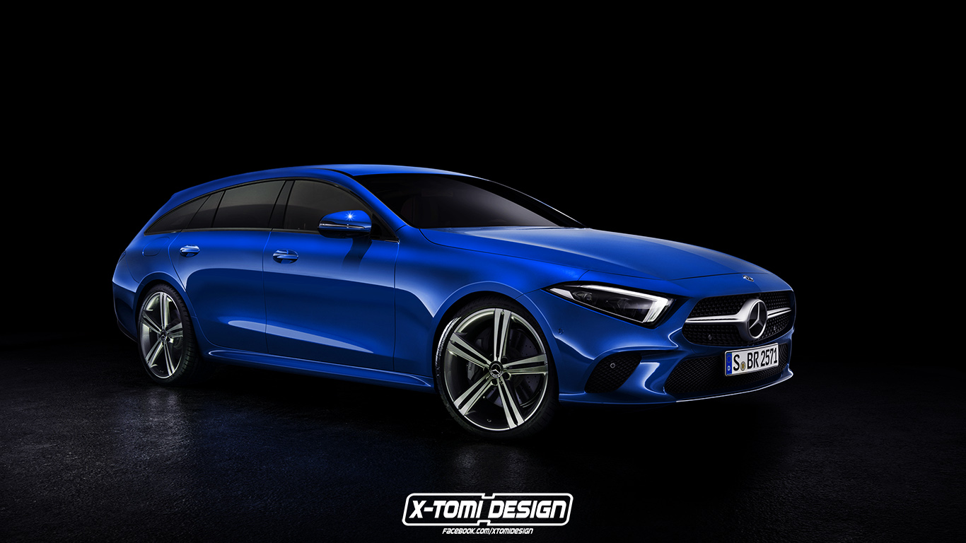 2019 Mercedes Cls Shooting Brake Gets Rendered Will Never