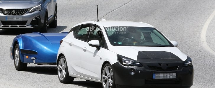2019 opel astra facelift spied undergoing hot weather testing with