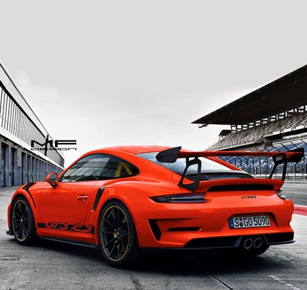2019 Porsche 911 GT3 RS Color Palette Rendered Based On