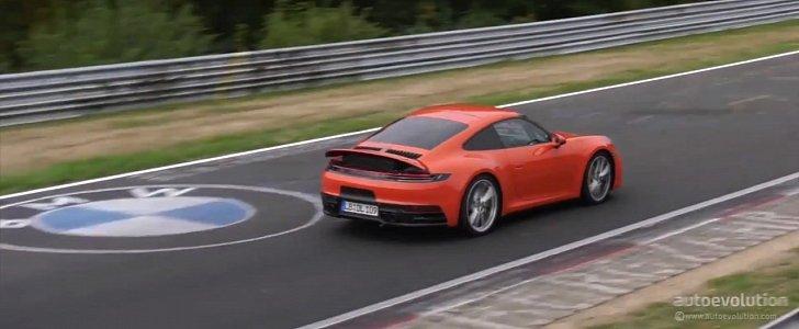 2020 Porsche 911 Spied Cornering Hard On The Nurburgring