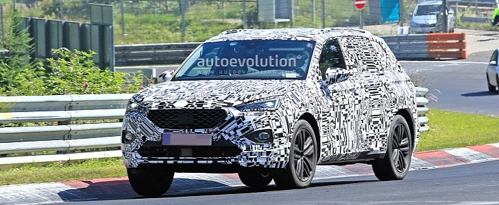 2019 seat tarraco spied testing at the nurburgring. Black Bedroom Furniture Sets. Home Design Ideas