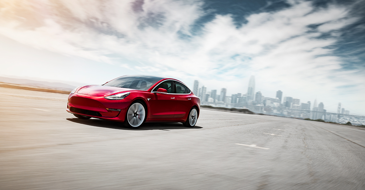 Tesla Model 3 Zoom Background