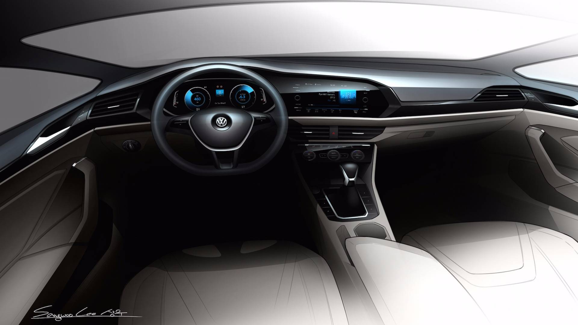 2017 Vw Jetta >> 2019 Volkswagen Jetta Interior Design Is a Massive Improvement - autoevolution