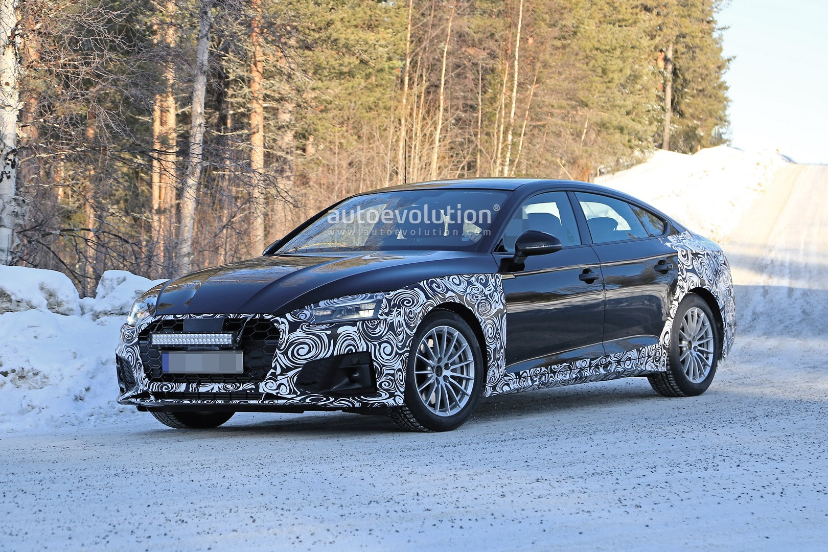 2020 Audi A5 Sportback Spied With New Lights Is Going Mild Hybrid Autoevolution
