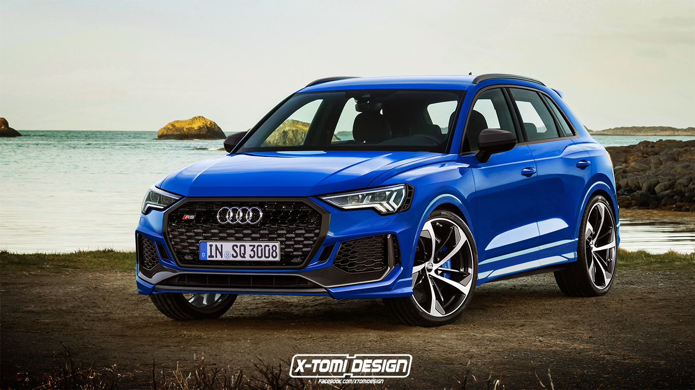 2020 Audi Rs Q3 Rendering Is A 400 Hp Crossover Autoevolution
