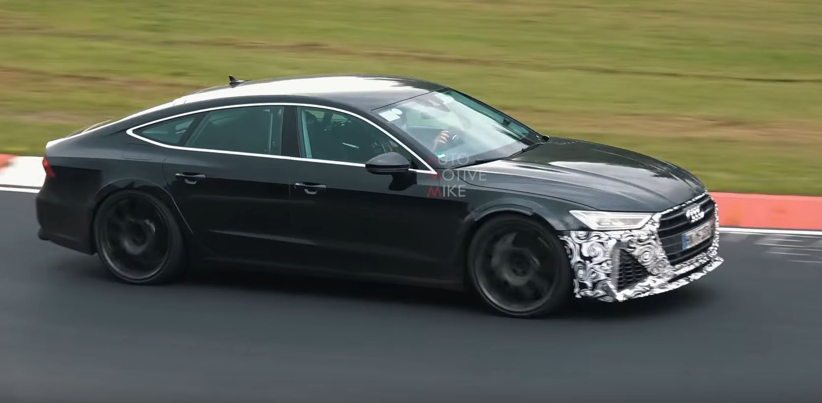 Audi RS In Action At The Nurburgring With Production Face - Rs7 audi