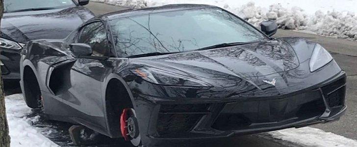 2020 C8 Corvette Wheels Stolen in Detroit, Supercar Looks ...