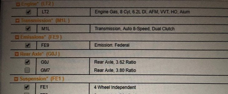 2020 Chevrolet Corvette Order Guide Reveals LT2 Engine ...