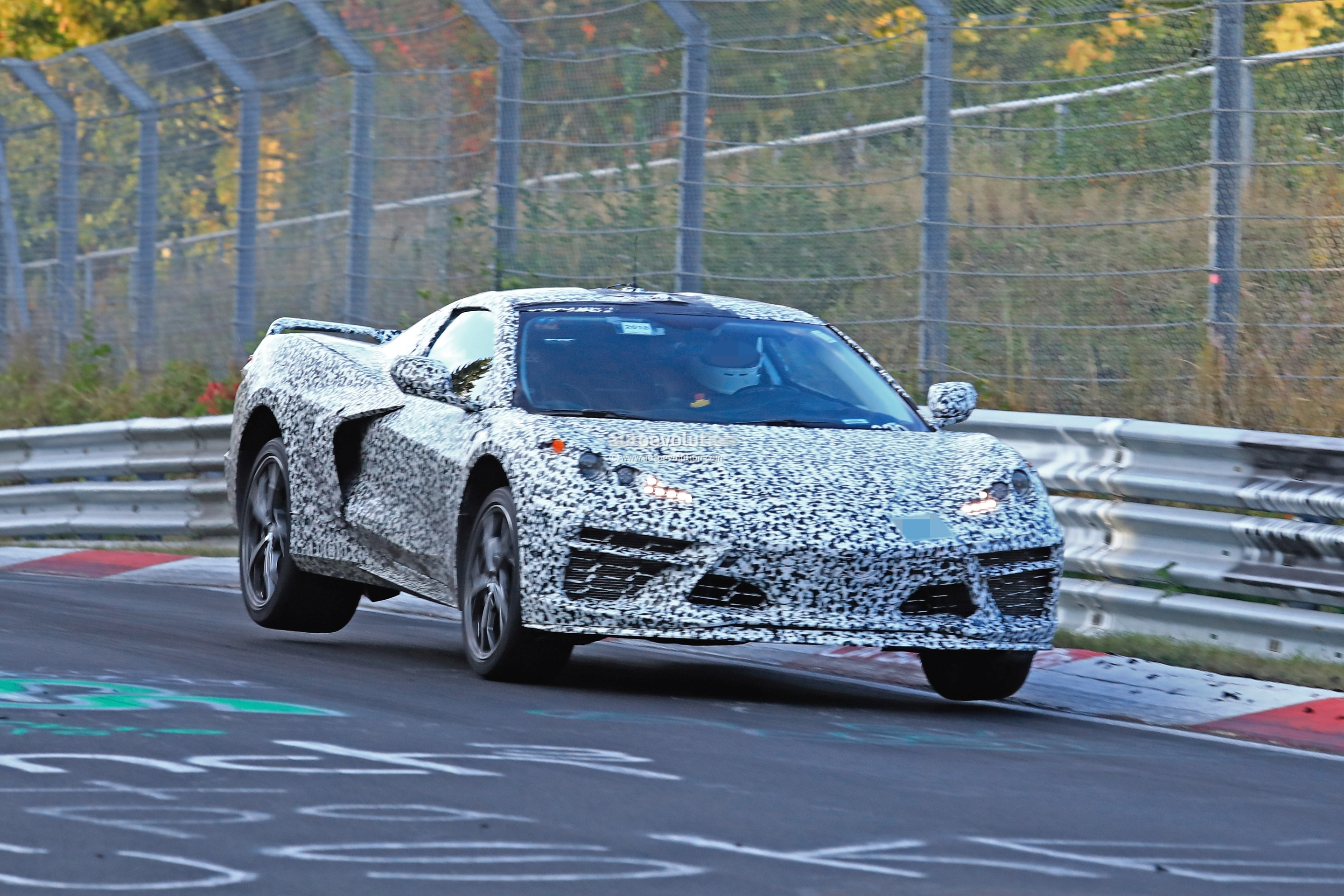 2020 Chevrolet Corvette Spied Testing With C7 At Nurburgring