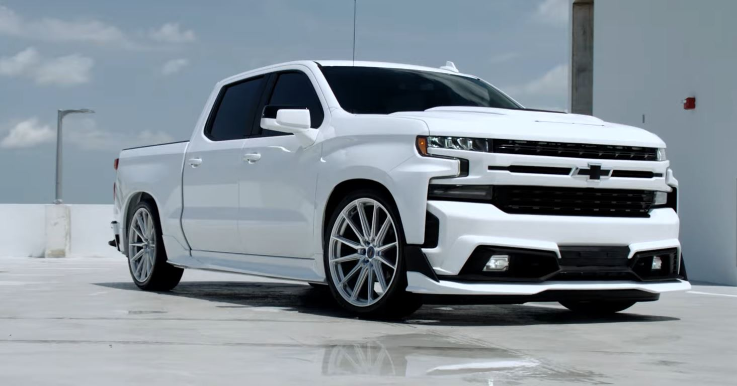 2020 Chevy Silverado Lowered On Vossen Wheels Has Aero Kit Autoevolution