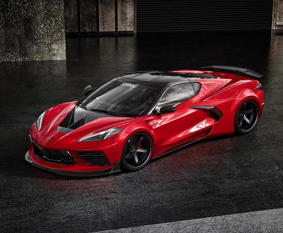 2020 Corvette C8 Z06 Rendered Looks Like A Road Going C8 R