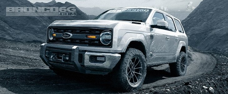 Rendering: 2020 Ford Bronco Four-Door SUV Looks Ready to Conquer Mountains - autoevolution